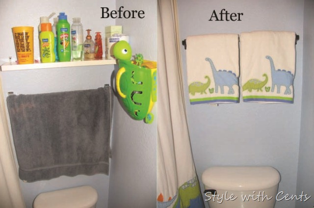 bathroom renovation using rustoleum oild rubbed bronze spray paint upstairs bath before after5