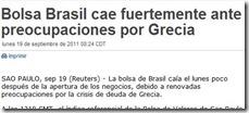 Mexico informa cae la Bolsa de Brasil por Grecia