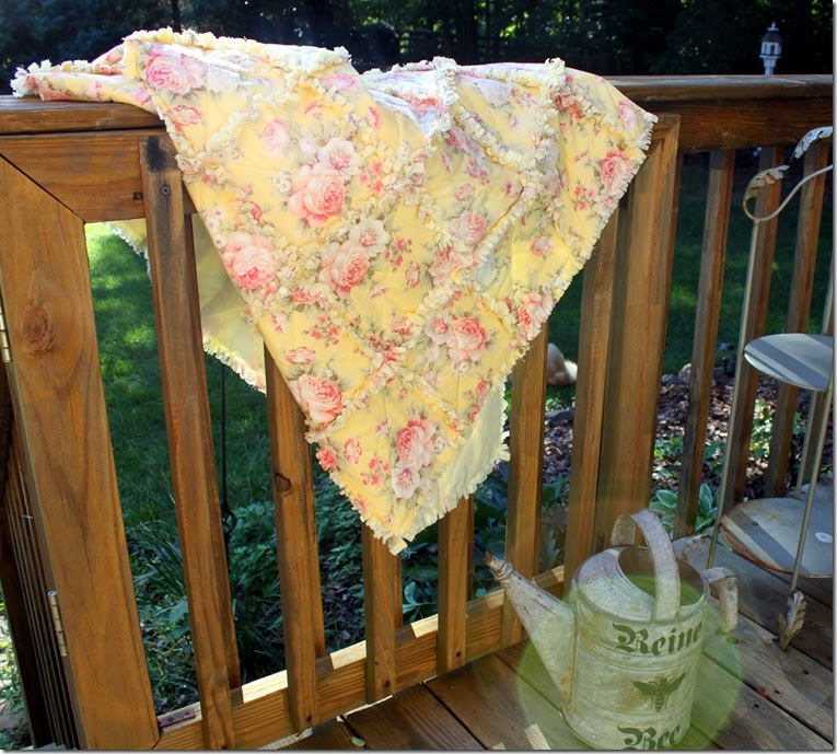Yellow Rag Quilt 031