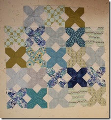 blue and green x blocks
