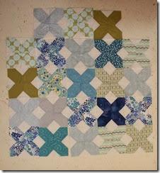 blue and green x blocks