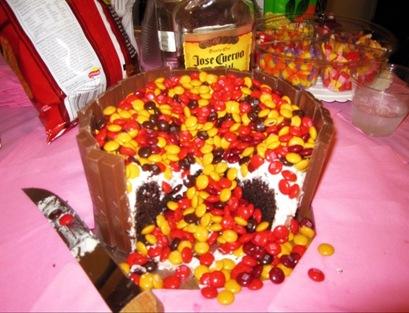 Fall Kit Kat Cake