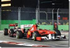 Massa precede Hamilton nel gran premio di Singapore 2011