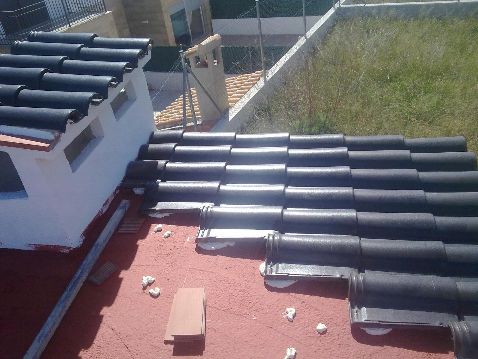 Colocacion de teja tejados toni alba il experto a buen for Tejados sin tejas