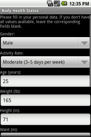 Body Health Status