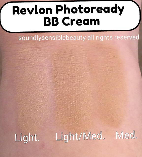 Revlon Photoready BB Cream SPF 30; Review & Swatches of Shades Light, Light/Medium, Medium