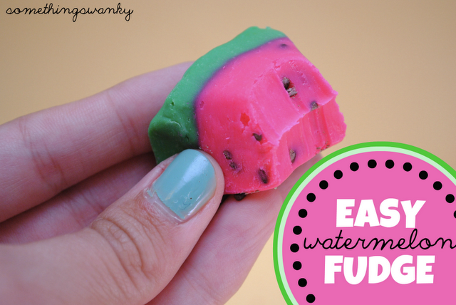 watermelon fudge