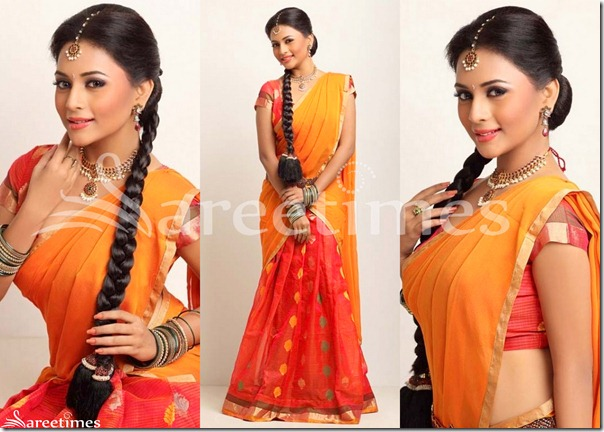 Suza_Orange_Red_Half_Saree