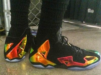 lebron james nba 140603 practice 05 King James Wears Nike LeBron 11 Elite Finals PE on Media Day