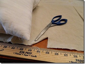drop cloth ruffled pillow how to 1