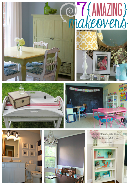 7 Amazing Makeovers at GingerSnapCrafts.com #linkparty #features