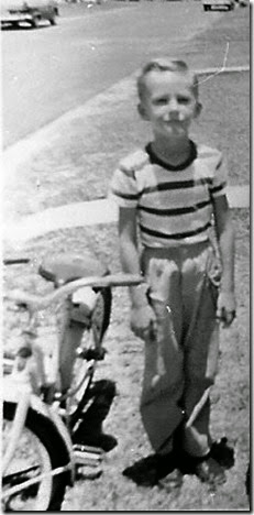 Gould_Norm_next to his bike_circa 1957_Pompano Bch_Broward_Florida
