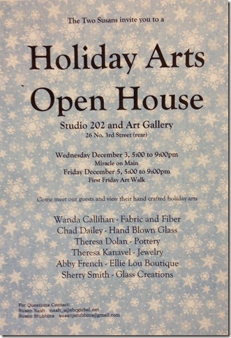 Holiday open house poster 2014