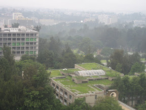 A view from my room at the Addis Hilton