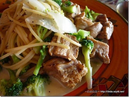 台北淡水‧領事館-雞肉花椰起司麵2