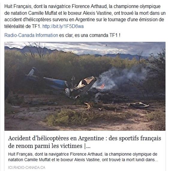 Catastròfa TF1 en Argentina