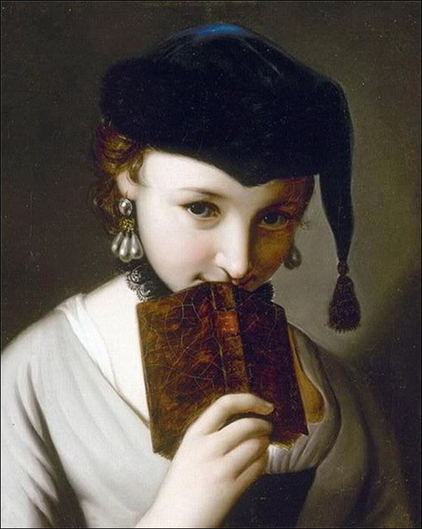 Piero Antonio Rotari, jeune fille au livre