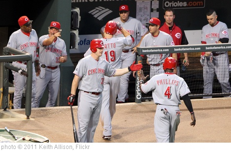 'Cincinnati Reds' photo (c) 2011, Keith Allison - license: http://creativecommons.org/licenses/by-sa/2.0/