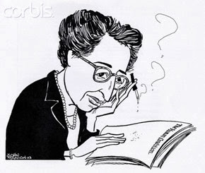 caricature hannah-arendt-by-john-minnion