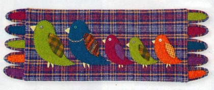 Bird Crossing in wool made by Peggy Bruns