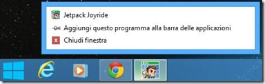ModernMix aggiungere applicazione Windows 8 alla barra delle applicazioni