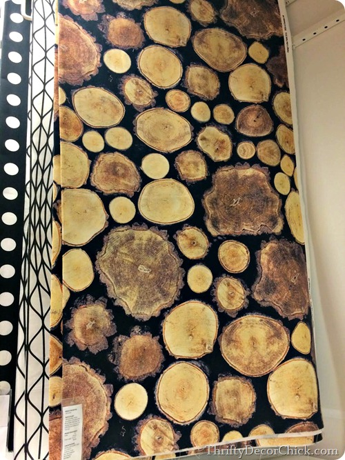 log fabric ikea