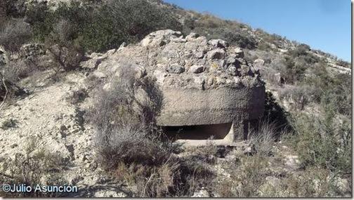 Búnker junto al poblado de la Edad del Bronce de Portitxol - Monforte del Cid