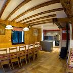 Salon et cuisine 1er étage chalet L'Orée du Bois - Location - Les Carroz