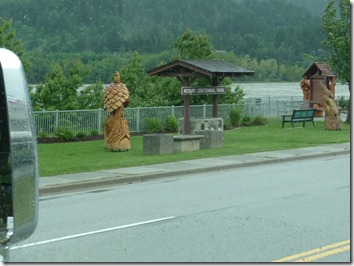 In or near the town of Hope BC