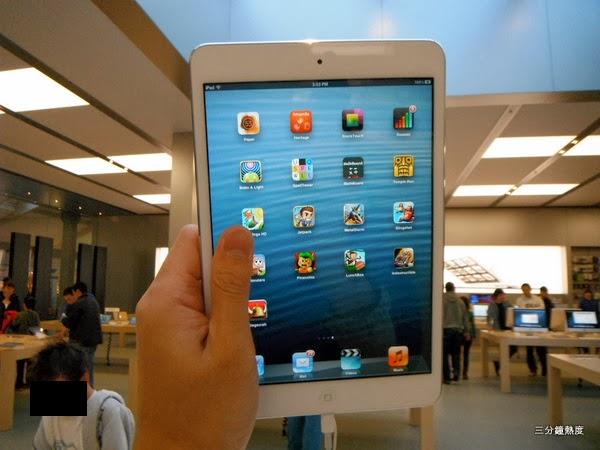 大拇指會擋住iPad mini的螢幕