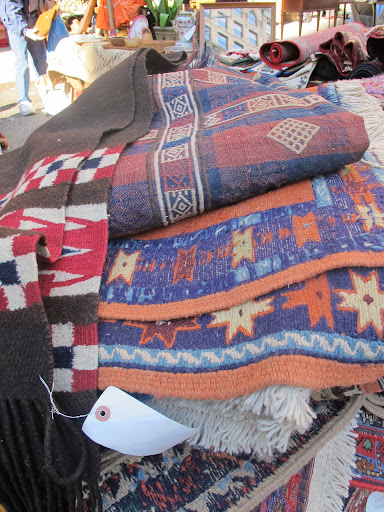 This vendor had so many rugs to choose from!