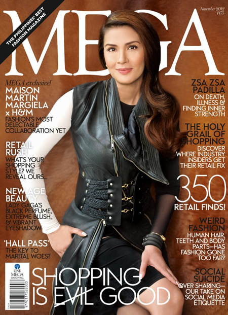 Zsa Zsa Padilla covers Mega Nov 2012