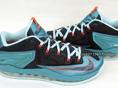 nike lebron 11 low gr nightshade 1 02 Upcoming Nike Max LeBron XI Low Turbo Green / Nightshade