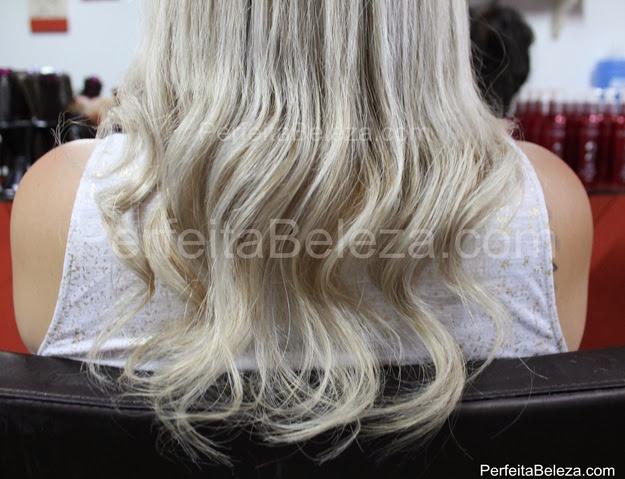 cabelo tratado com cauterização