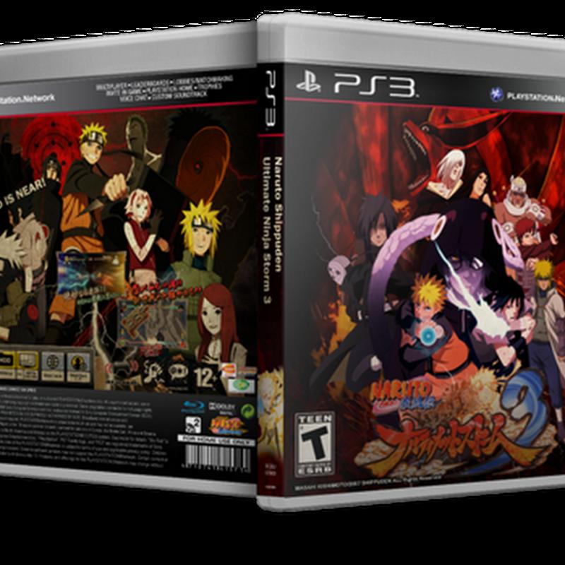 Naruto Shippuuden Storm 3 Previsto P'ra 2013 (Xbox & PS3) [Capa + Análise]