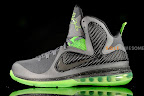 nike lebron 9 gr black green dunkman 3 10 Another Look at Nike LeBron Dunkman   Different Version