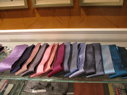 Some of the more colorful ties we were originally considering.