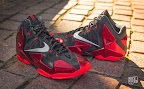 nike lebron 11 gr black red 10 01 New Photos // Nike LeBron XI Miami Heat (616175 001)