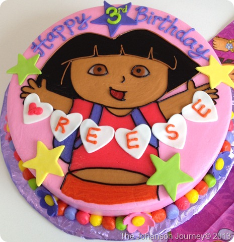 The Johanson Journey Dora Party Details Custom Dora Cake
