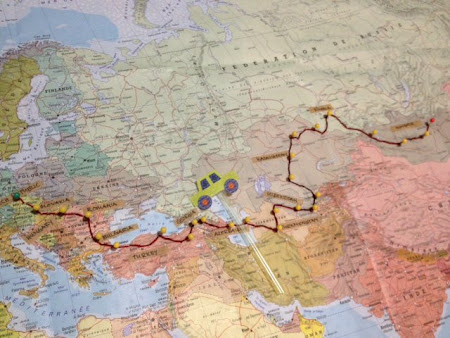 Map of Mongol Rally 2012: Europe to Mongolia by car