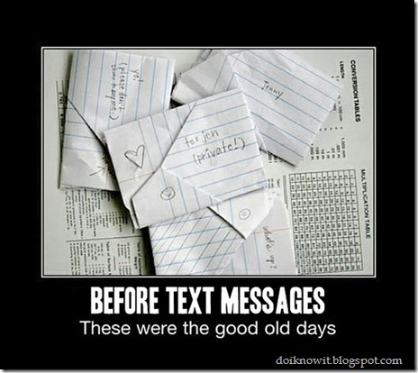 How Text messages were send before Internet an Mobile Phones
