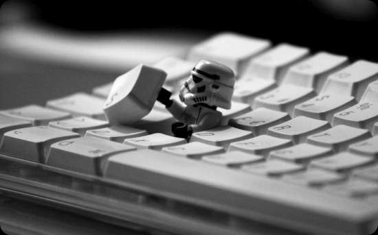 cool star wars keyboard storm trooper lego