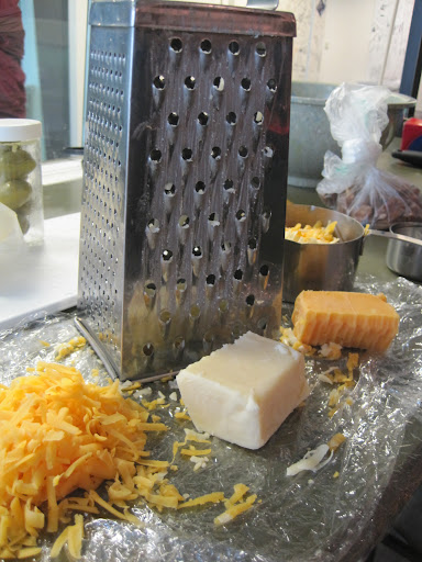 And now, grate the cheese.