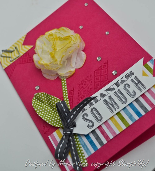 Oh hello, Stampin Up, Pop n Cuts gift card close