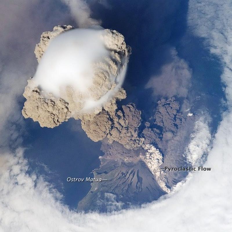 Erupting Volcanoes As Seen From Space