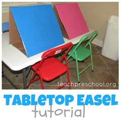 diy tabletop Easel