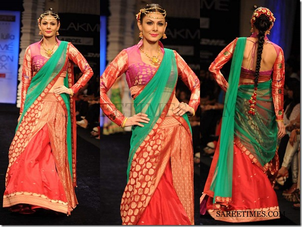 Neeta_Lulla_Green_Red_Saree