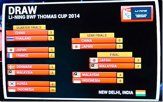The road to the Thomas Cup Final 2014