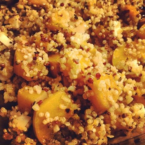 #280 - Quinoa, squash and goats cheese salad