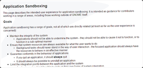 Gnome - Application Sandboxing
